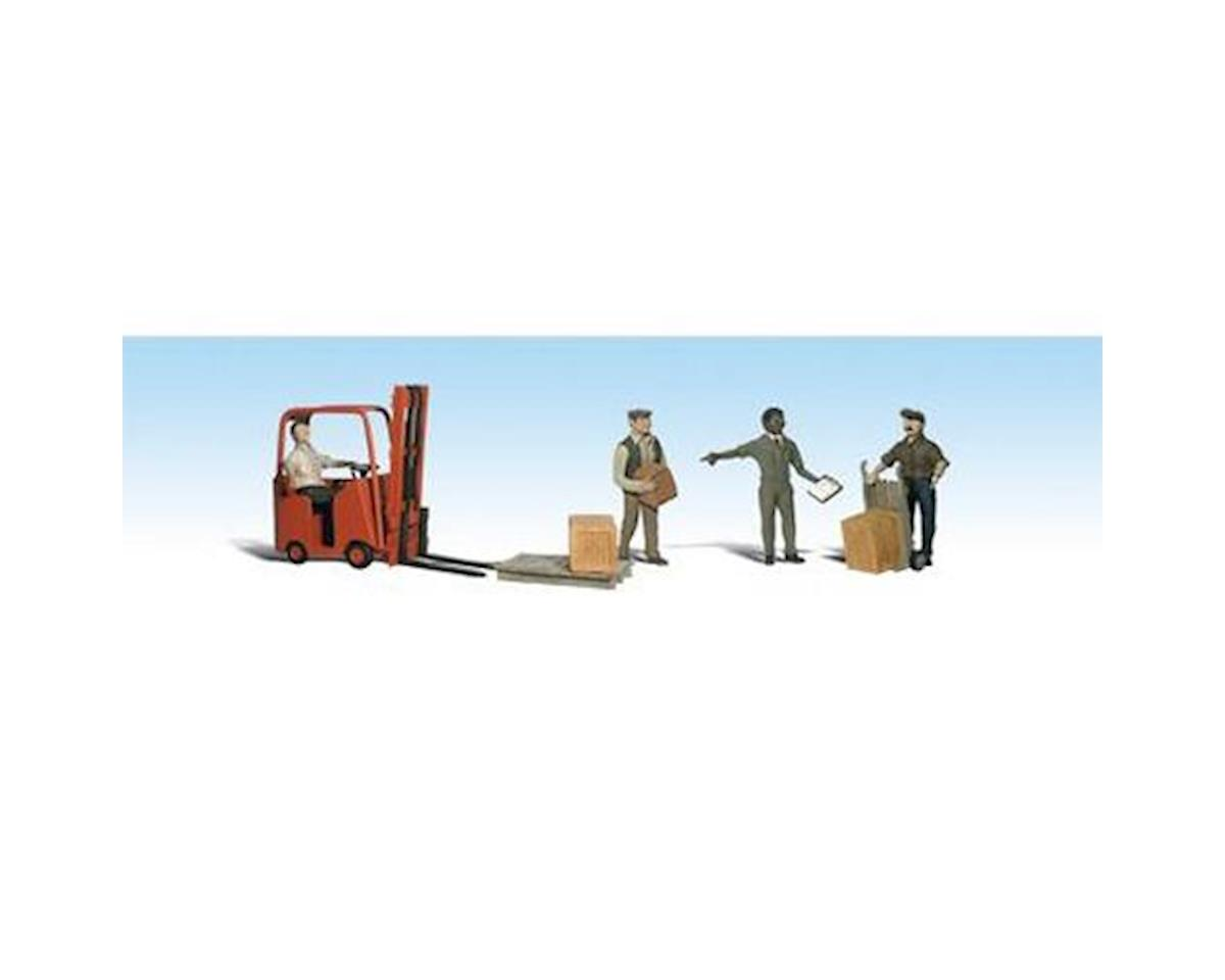 HO Workers w/Forklift by Woodland Scenics