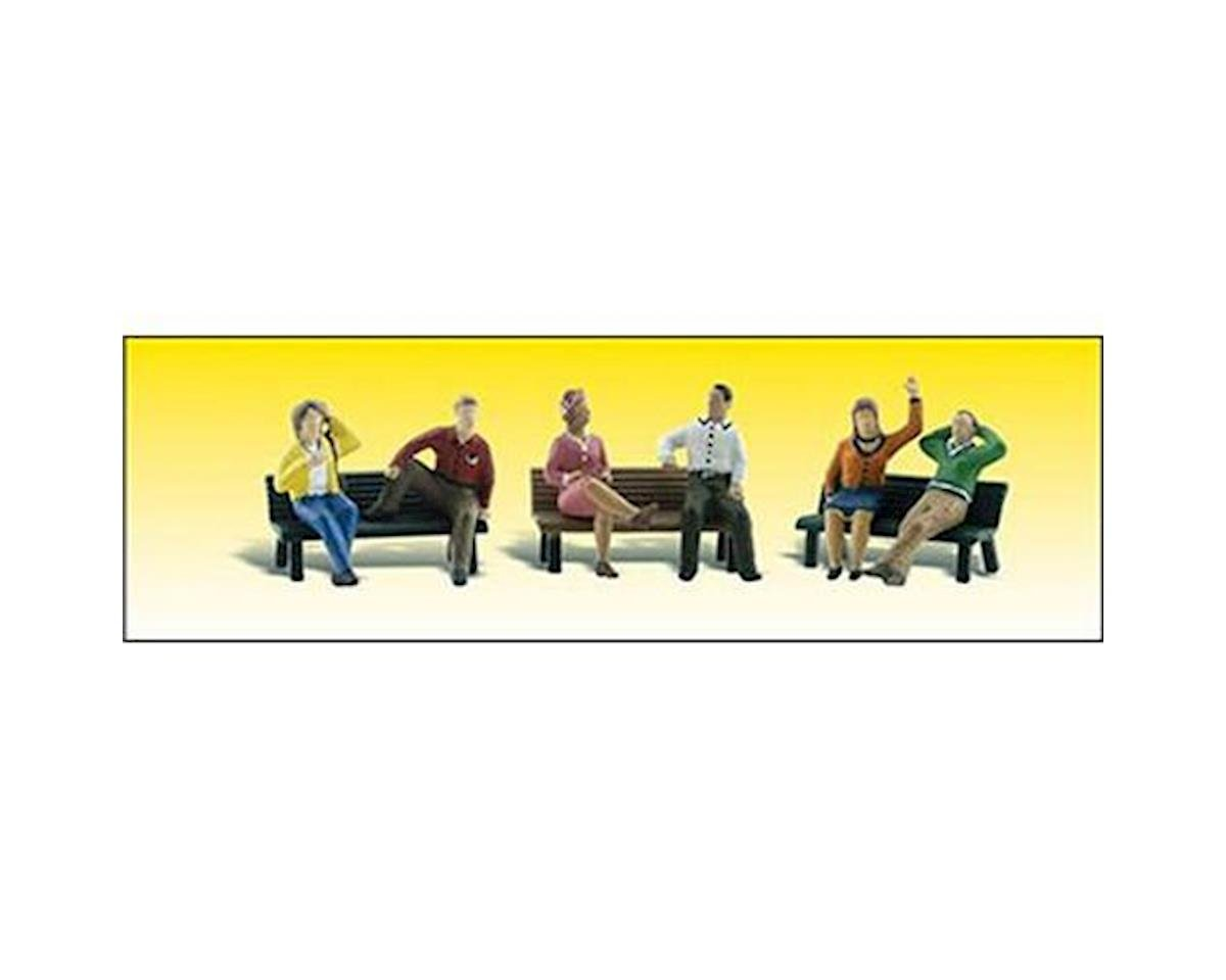 HO People on Benches by Woodland Scenics