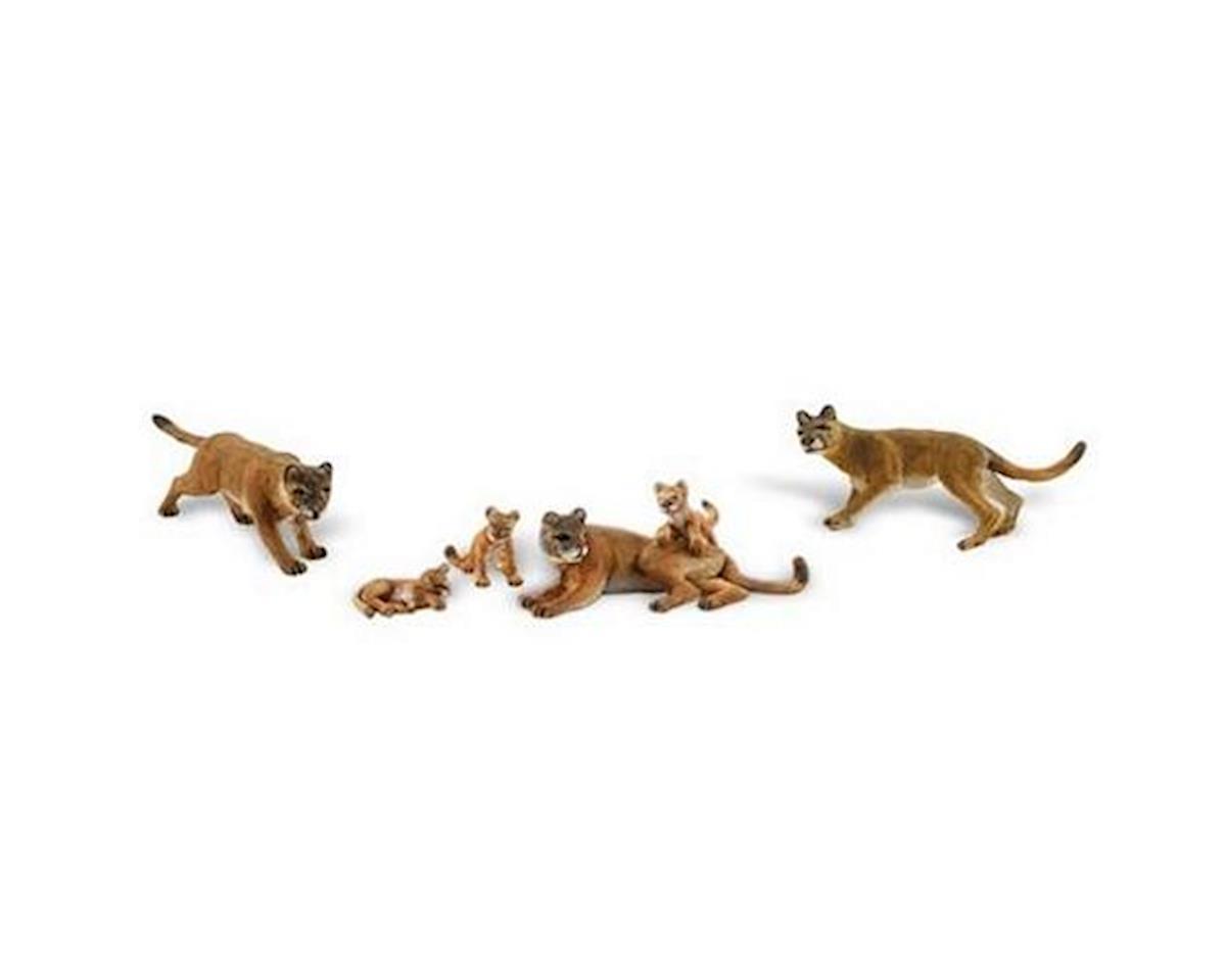 Woodland Scenics HO Scenic Accents Cougars & Cubs (3 ea) (D)