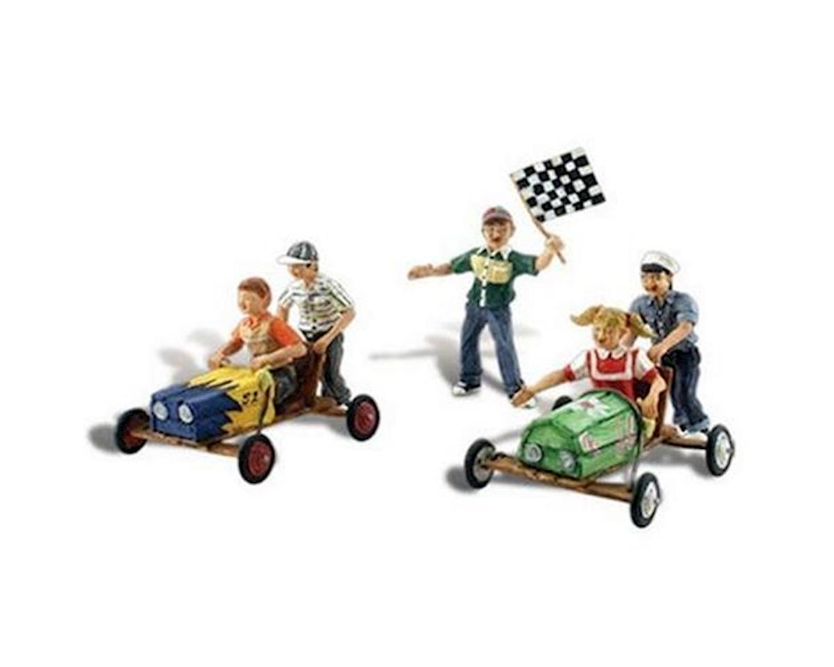 HO Scenic Accents Downhill Derby Racing (5 Childre by Woodland Scenics