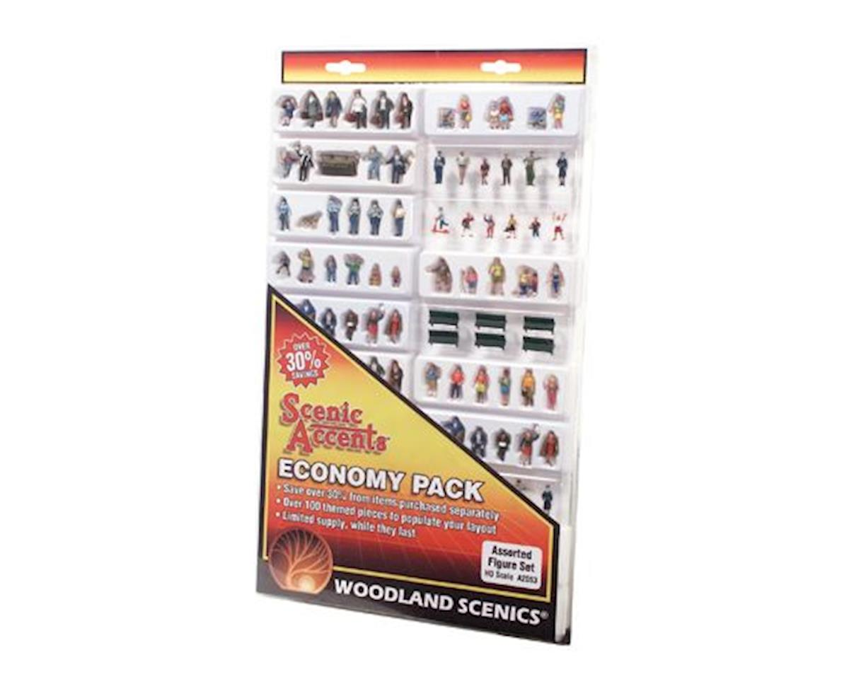 Woodland Scenics HO Economy Figure Set, Assorted