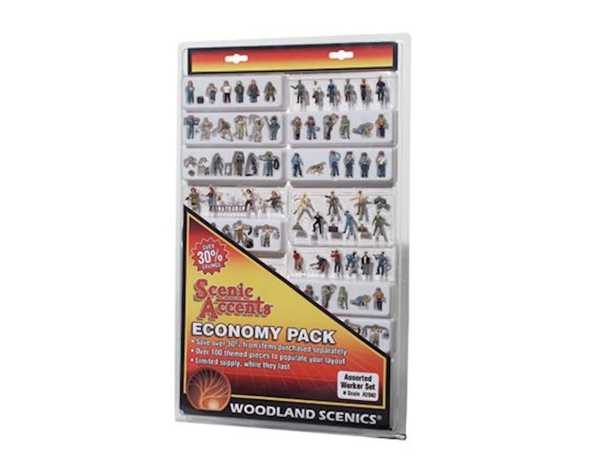 Woodland Scenics N Economy Figure Assortment, Workers
