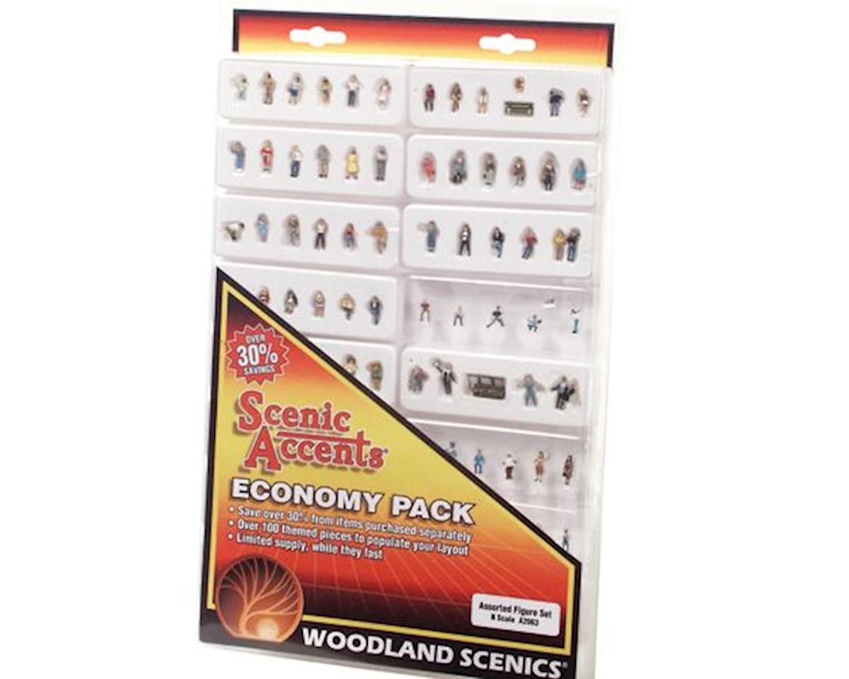 Woodland Scenics N Economy Figure Set, Assorted