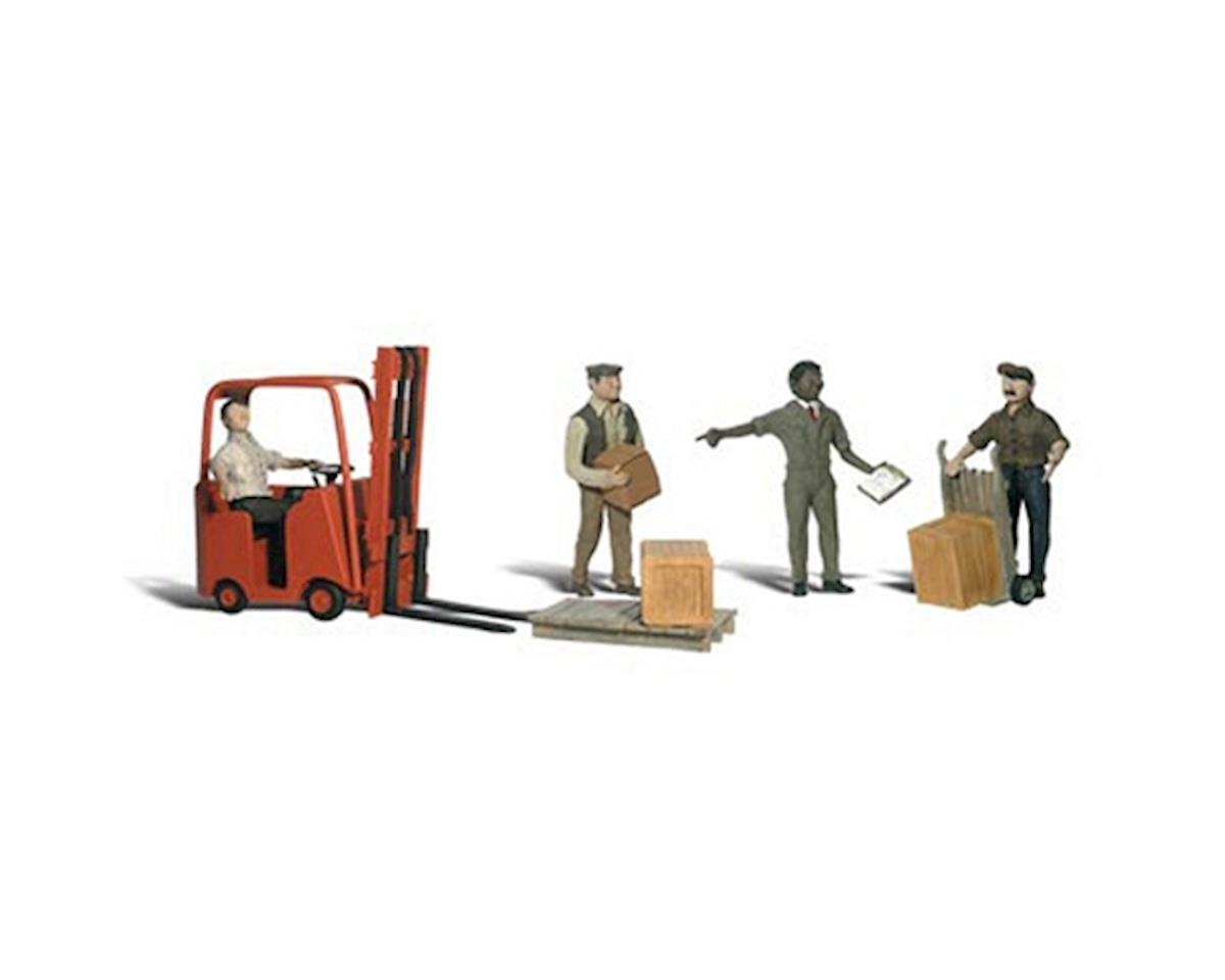Woodland Scenics N Workers w/Forklift