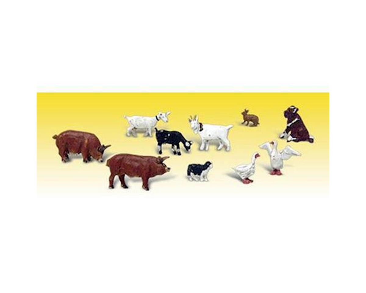 Woodland Scenics N Barnyard Animals