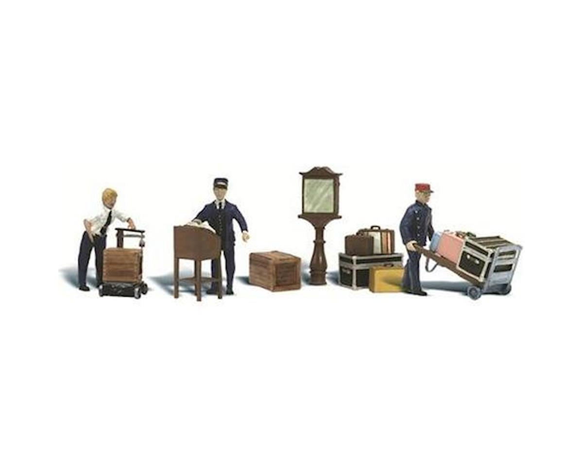 Woodland Scenics N Scenic Accents Depot Workers (3)