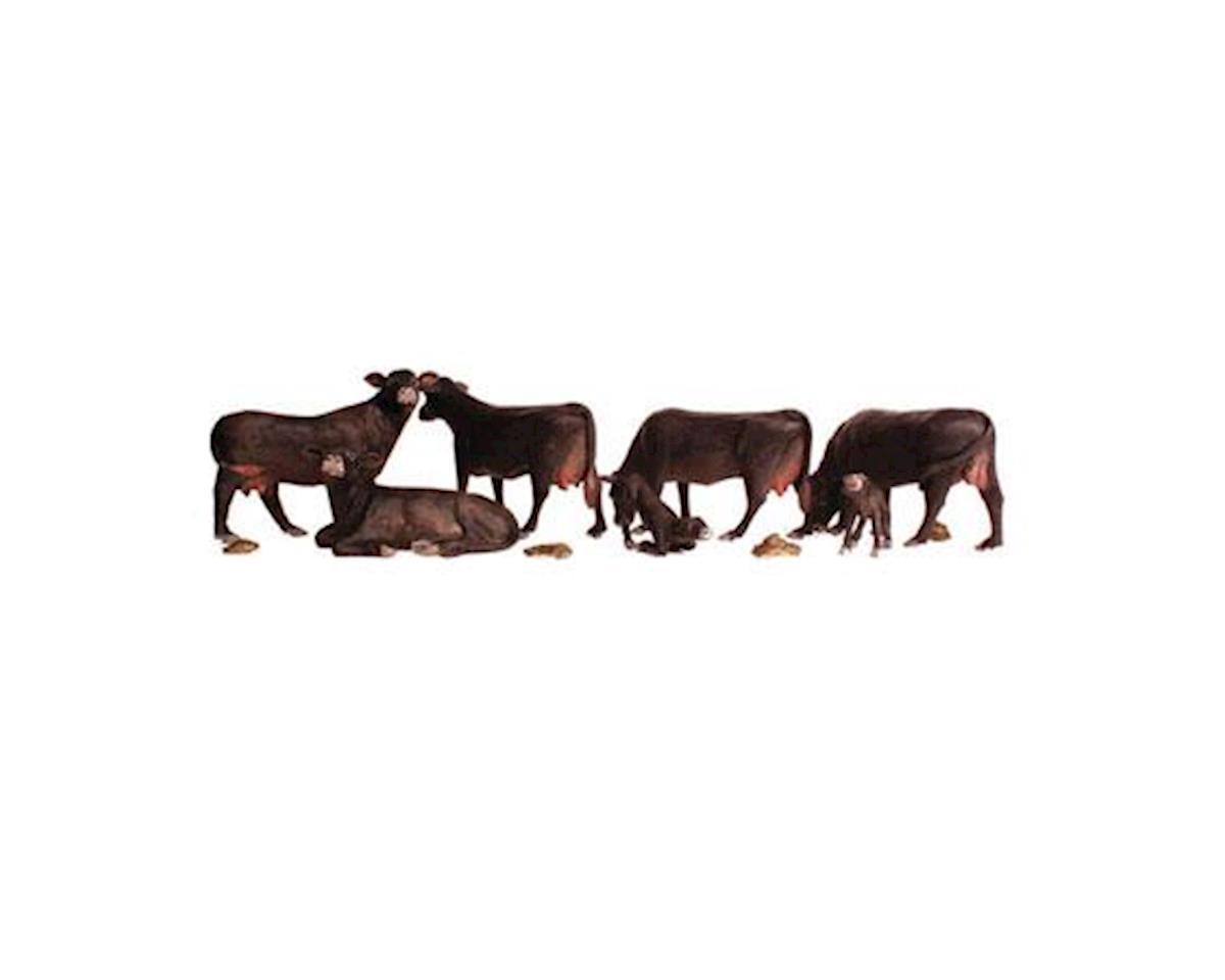 Woodland Scenics N Black Angus Cows