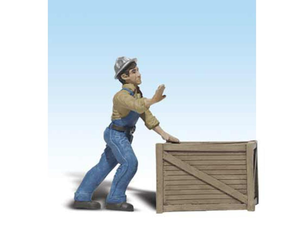 Woodland Scenics G Dock Worker w/Crate