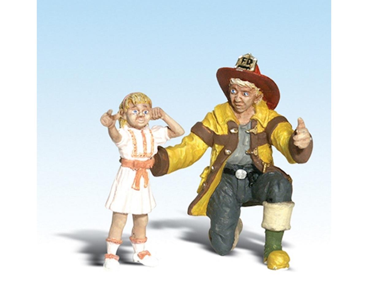 Woodland Scenics G Fireman Bill & Betsy