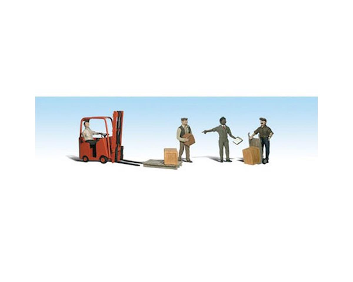 Woodland Scenics O Workers w/Forklift