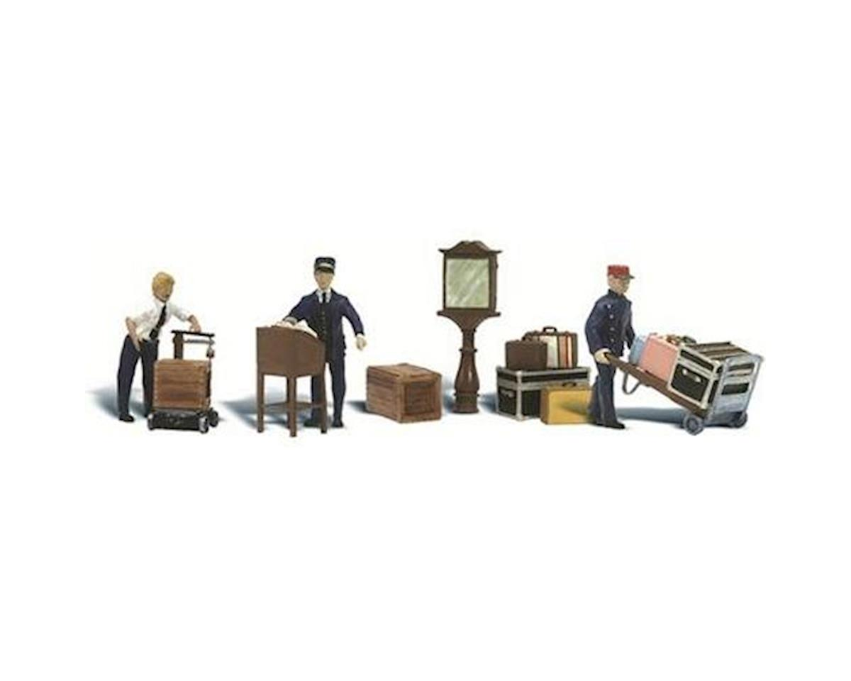 Woodland Scenics O Depot Workers & Accessories