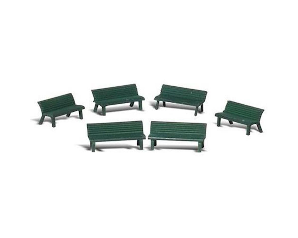 O Scenic Accents Park Benches (6) by Woodland Scenics