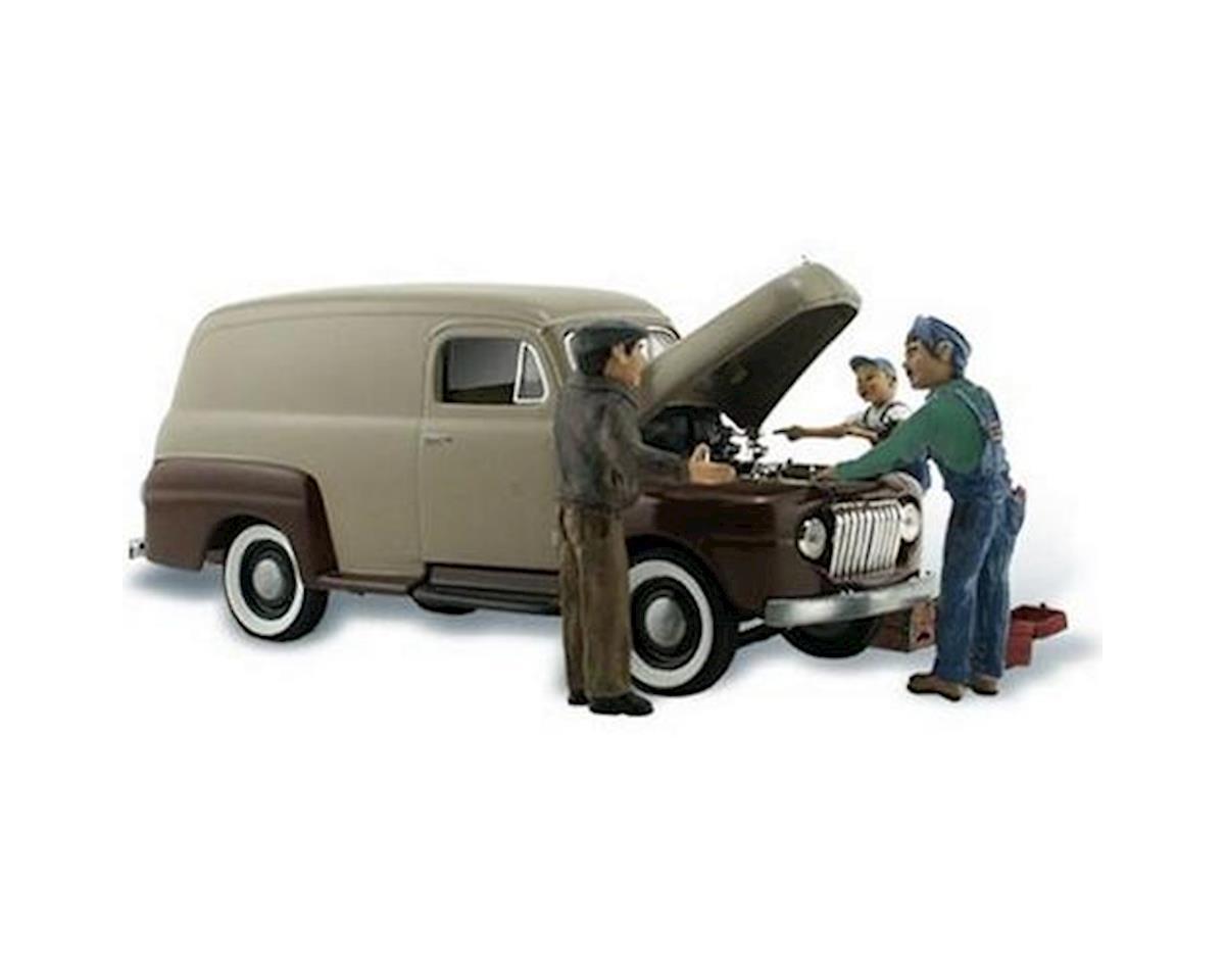 Woodland Scenics N Autoscene Carburetor Chaos Delivery Van w/Figure