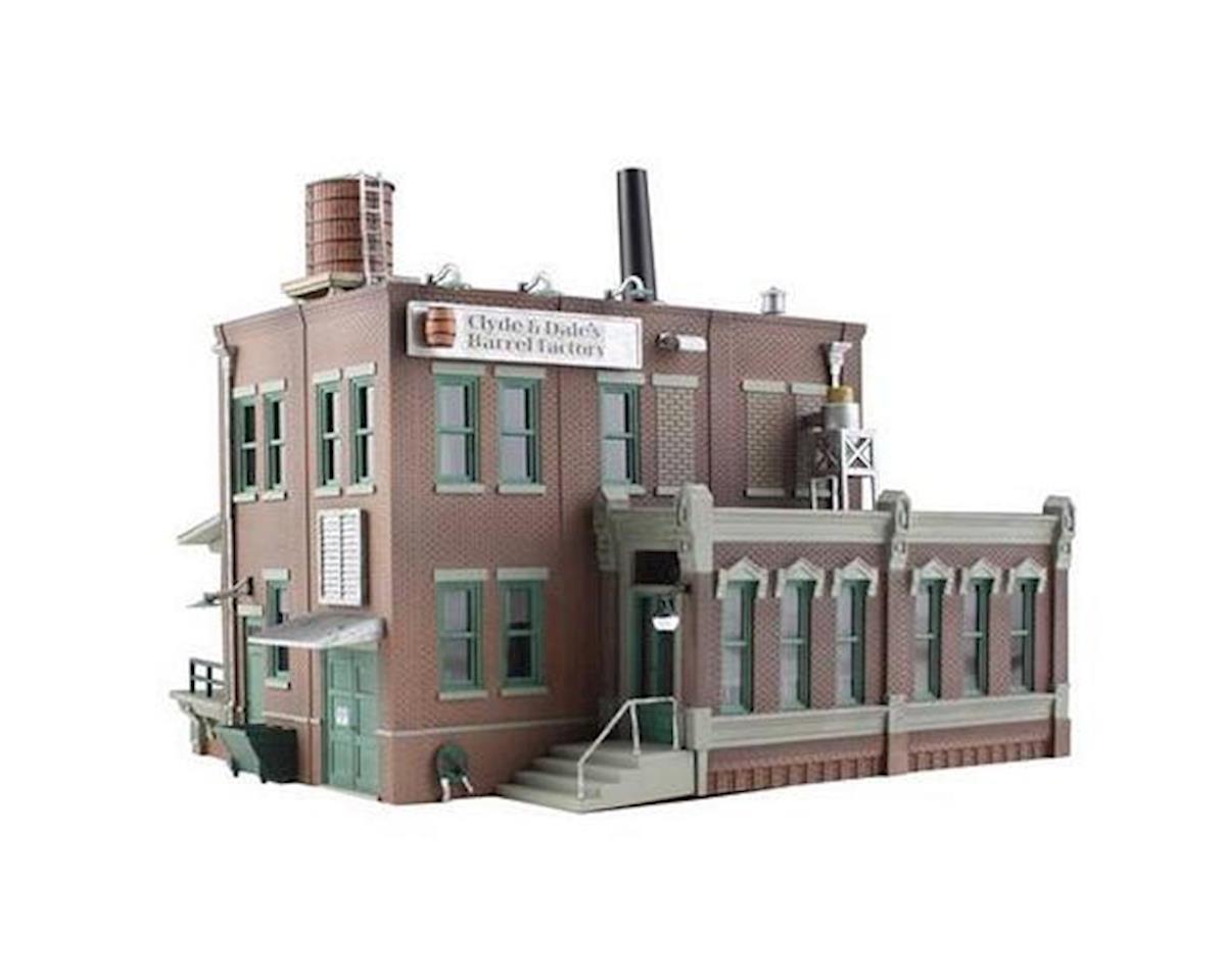 N B/U Clyde & Dale's Barrel Factory by Woodland Scenics