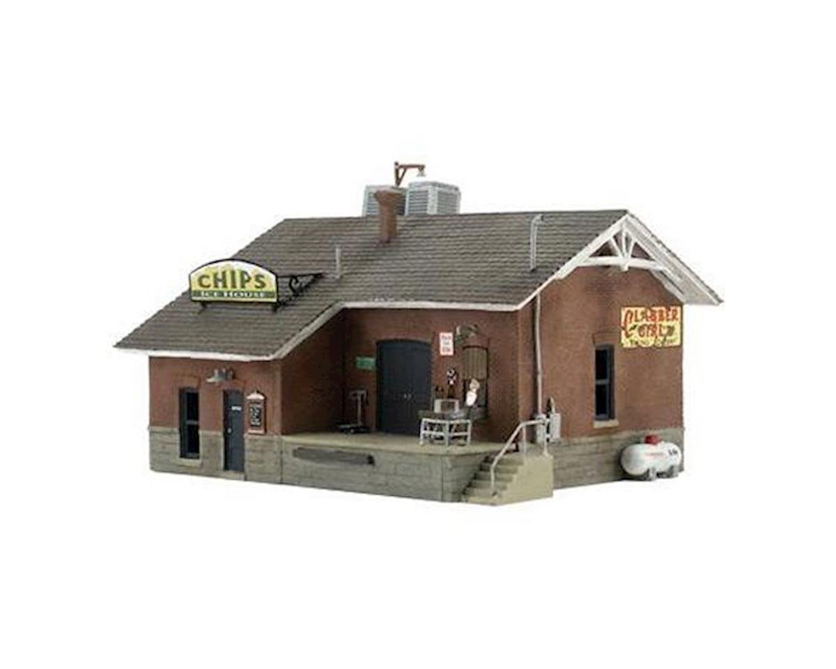 Woodland Scenics N Built-N-Ready Chip's Ice House 1-Story Building