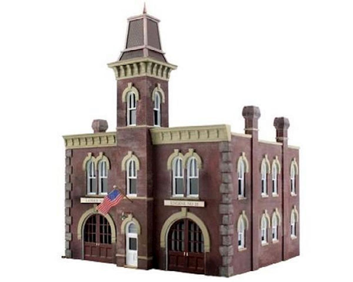 Woodland Scenics HO Built-N-Ready 2-Story Firehouse
