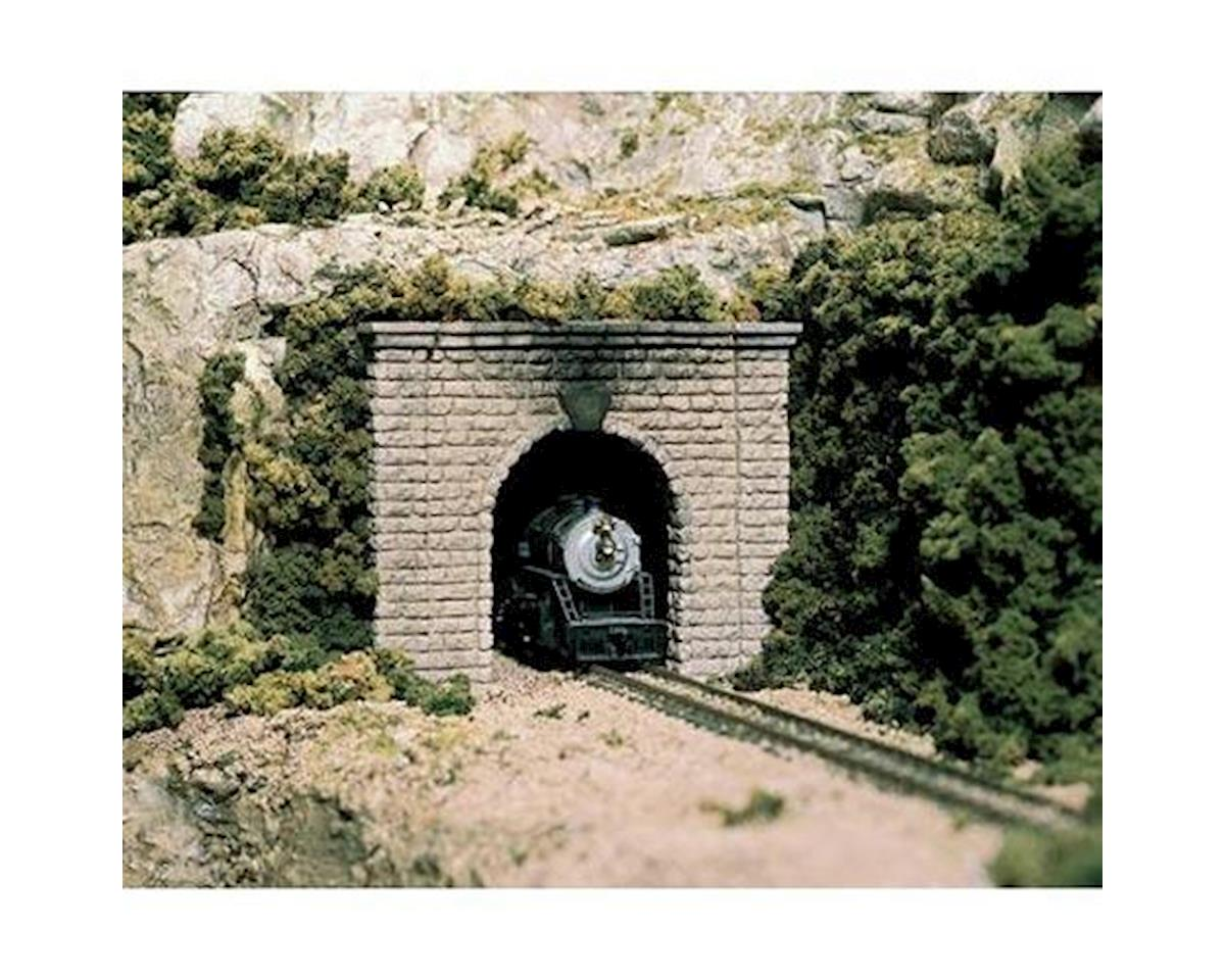 N Single Tunnel Portal, Cut Stone (2) by Woodland Scenics