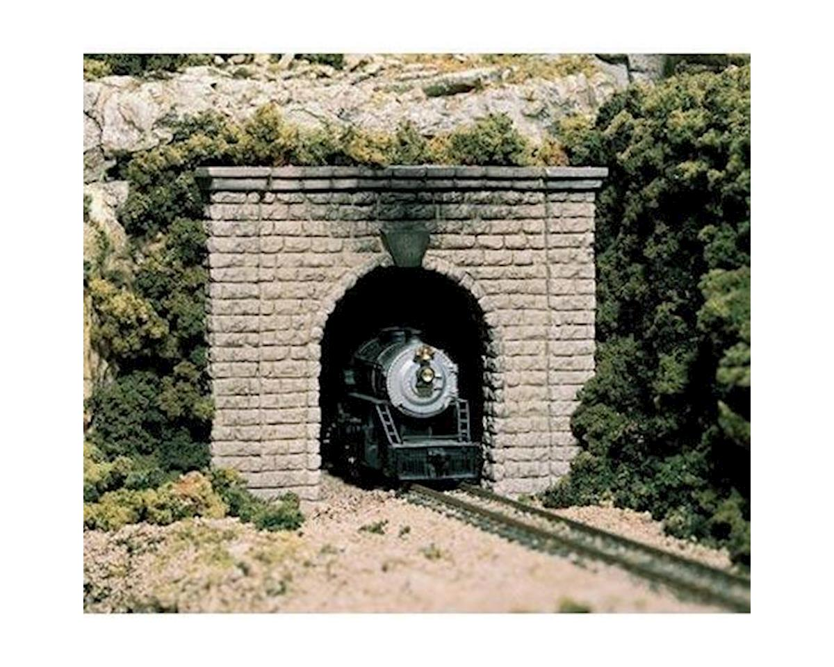 HO Single Tunnel Portal, Cut Stone by Woodland Scenics