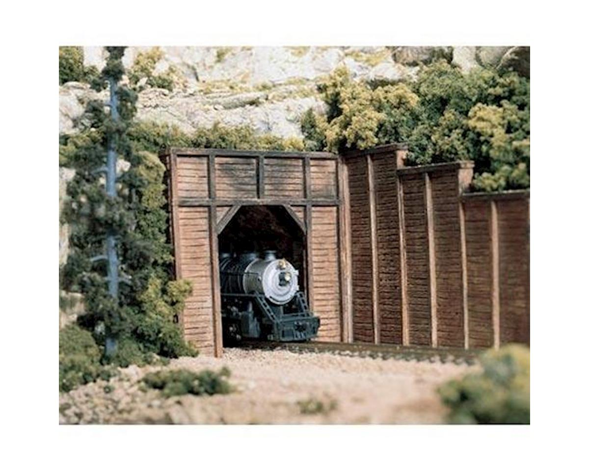 Woodland Scenics HO Single Tunnel Portal, Timber