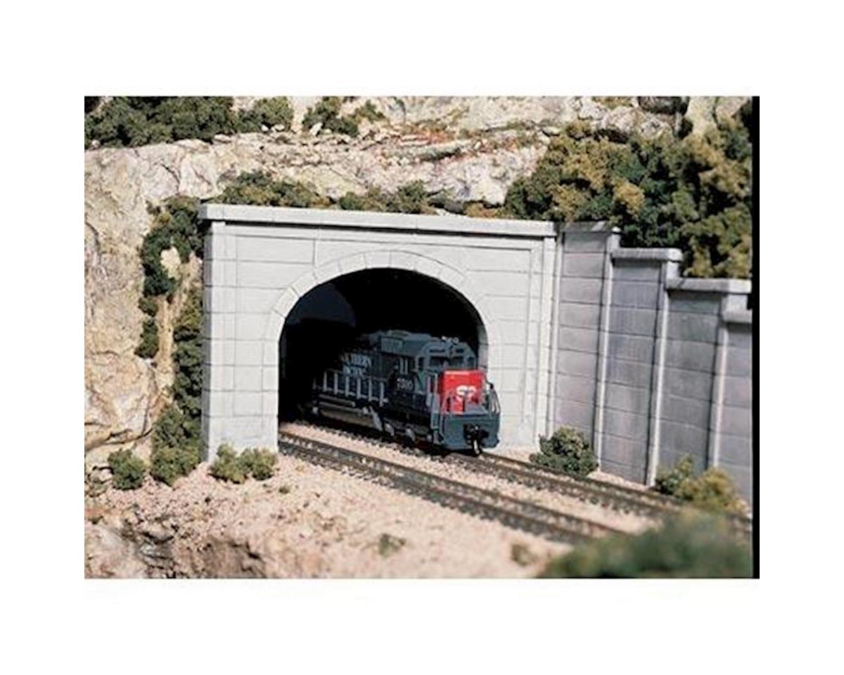 Woodland Scenics HO Double Tunnel Portal, Concrete