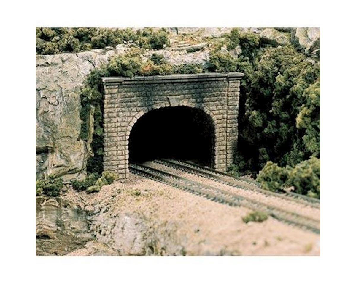 HO Double Tunnel Portal, Cut Stone by Woodland Scenics
