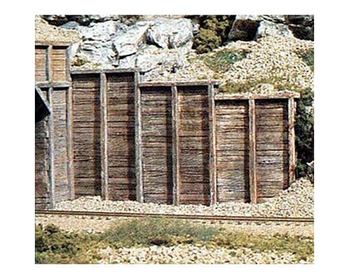 HO Retaining Wall, Timber (3) by Woodland Scenics