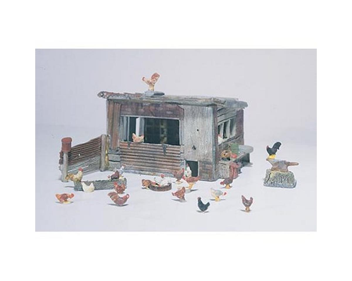 Woodland Scenics HO Chicken Coop