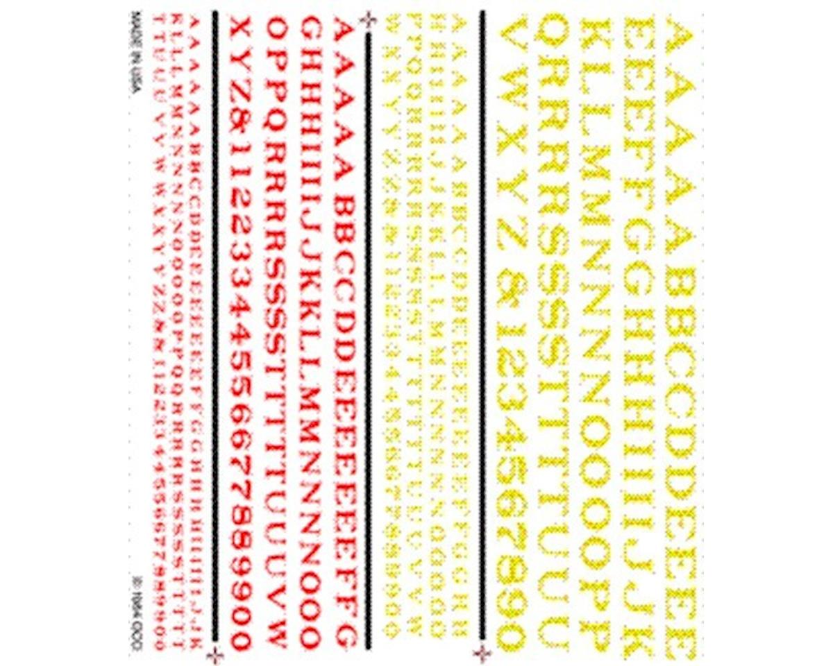 Railroad Roman Letters, Red/Yellow by Woodland Scenics