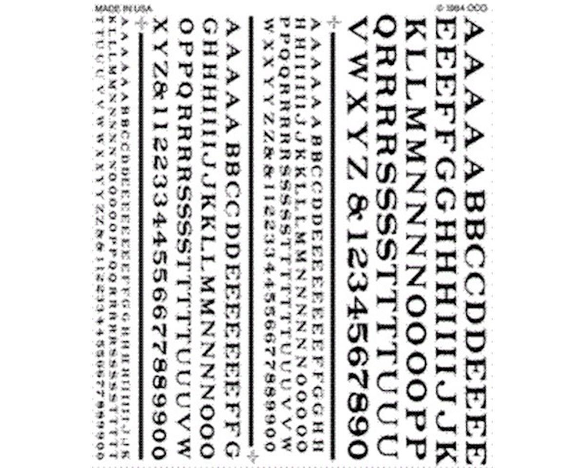 RR Roman Black Decals 1/16-3/16 by Woodland Scenics
