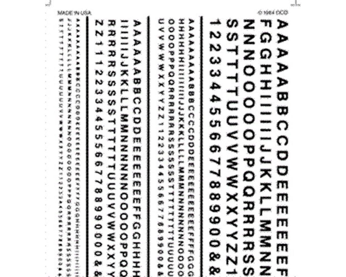 Woodland Scenics Railroad Gothic Letters, Black