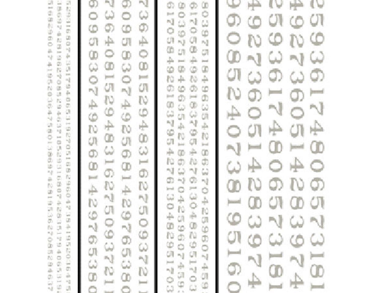 Woodland Scenics Railroad Roman Numbers, White