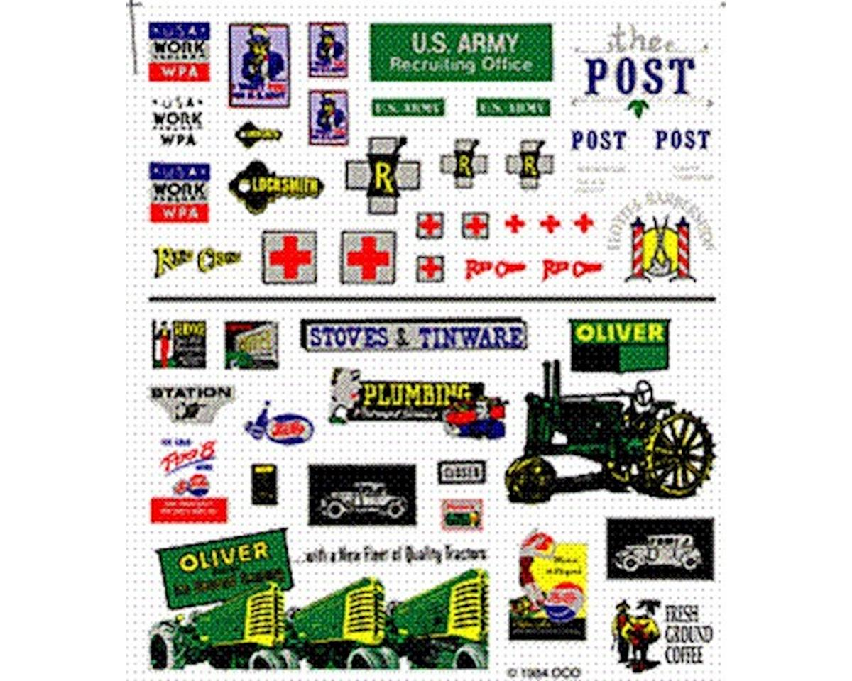 Dry Transfer, Assorted Logos/Advertising Signs by Woodland Scenics