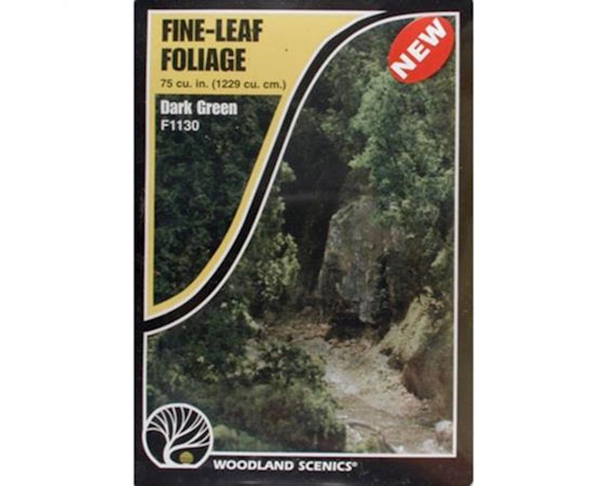 Woodland Scenics Fine Leaf Foliage, Dark Green/75 cu. in.