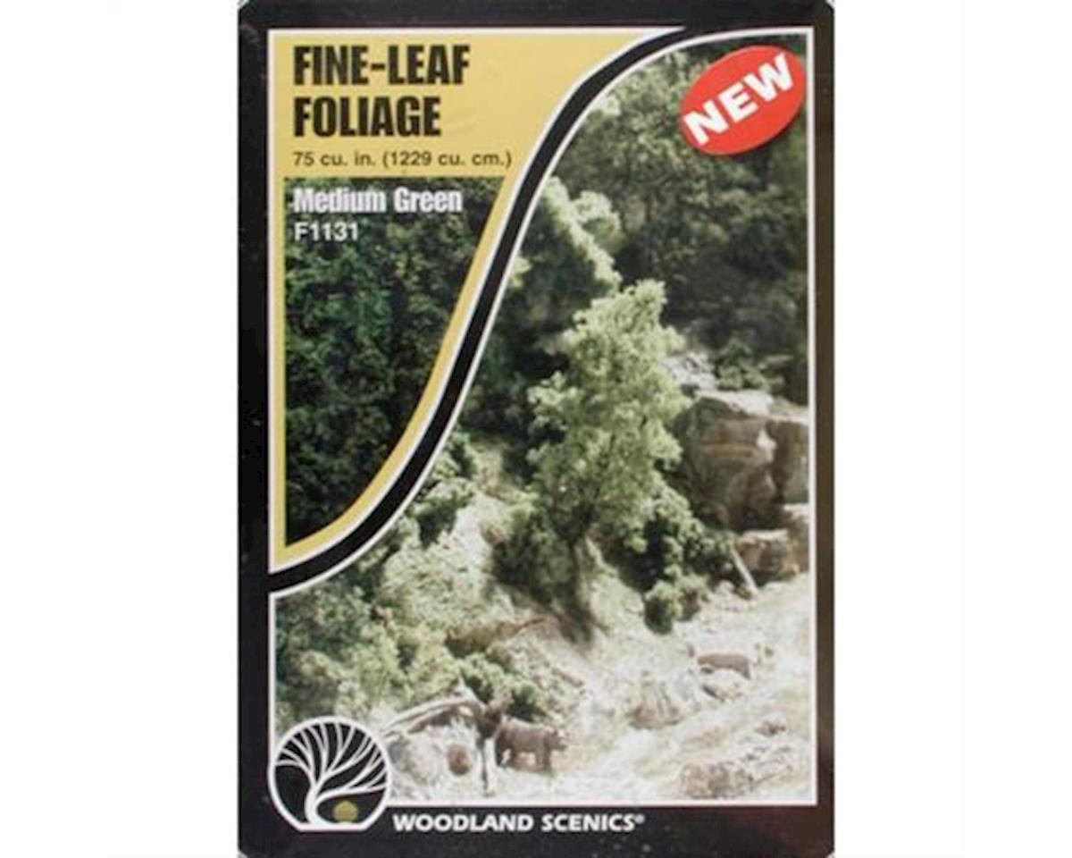 Woodland Scenics Fine Leaf Foliage, Medium Green/75 cu. in.