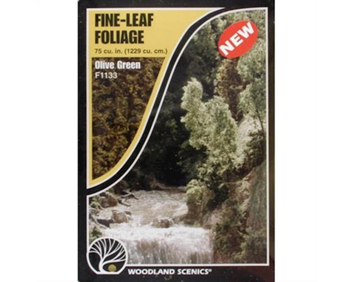 Woodland Scenics Fine Leaf Foliage, Olive Green/75 cu. in.