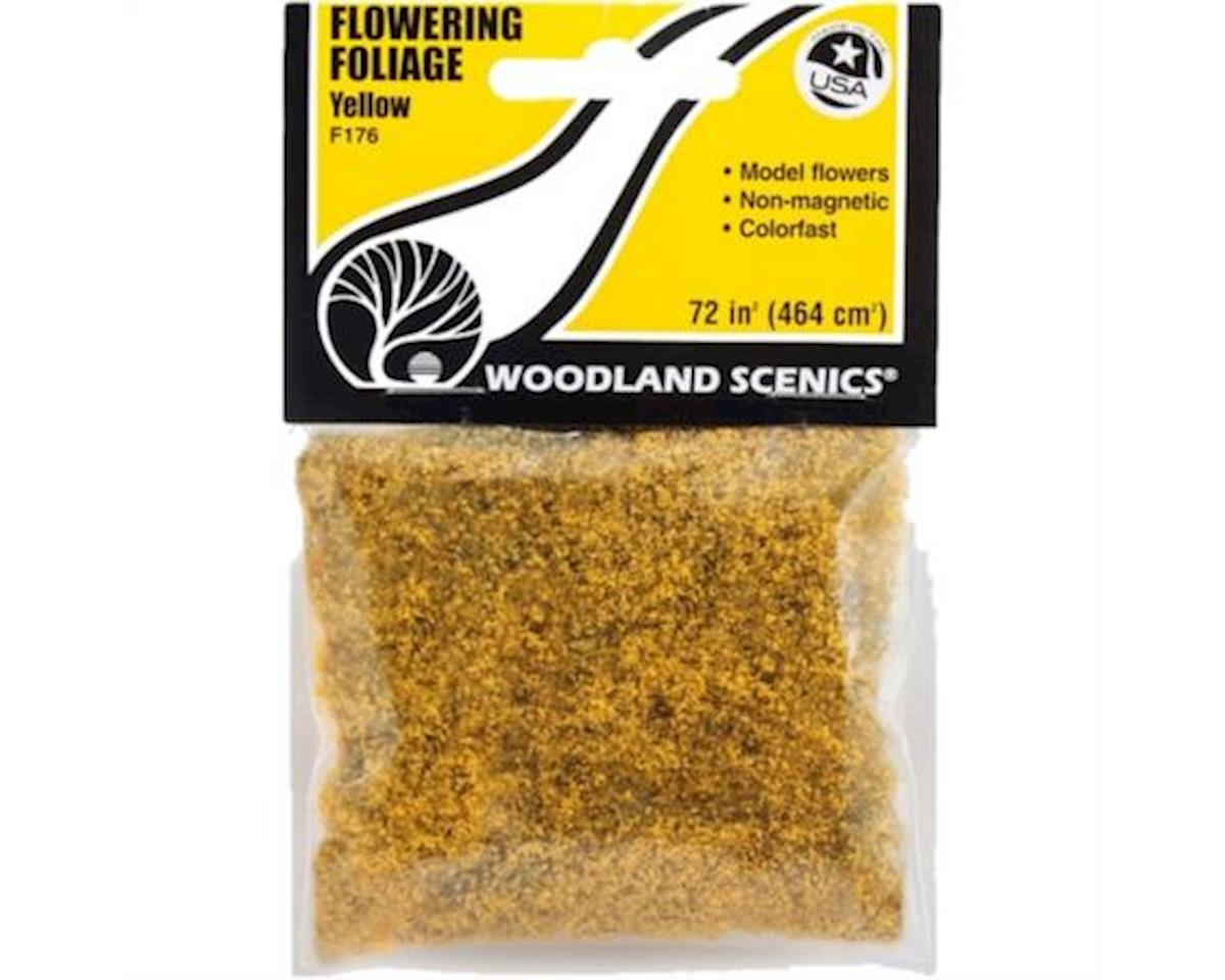 Woodland Scenics Flowering Foliage Bag, Yellow/100 sq. in.