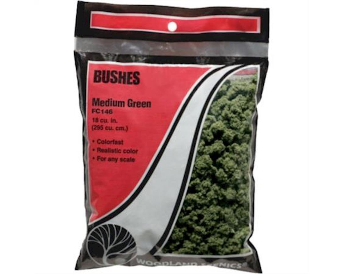 Woodland Scenics Bushes Bag, Medium Green/18 cu. in.