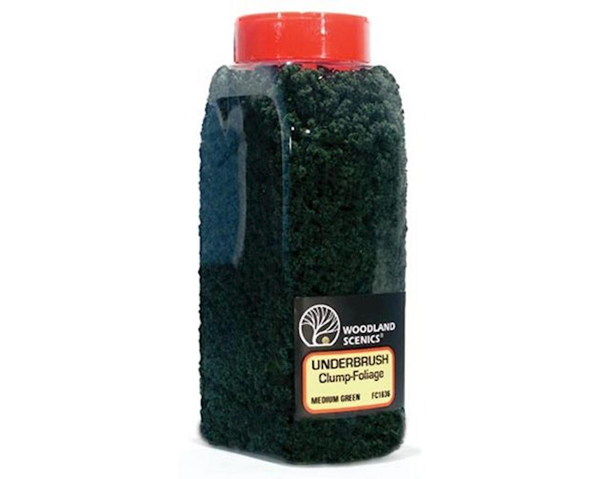 Woodland Scenics Underbrush Shaker, Medium Green/50 cu. in.