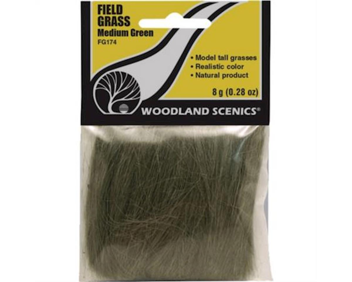 Woodland Scenics Field Grass, Medium Green/8g