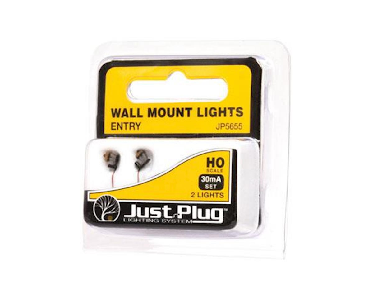HO Wall Mount Lights, Entry (3) by Woodland Scenics