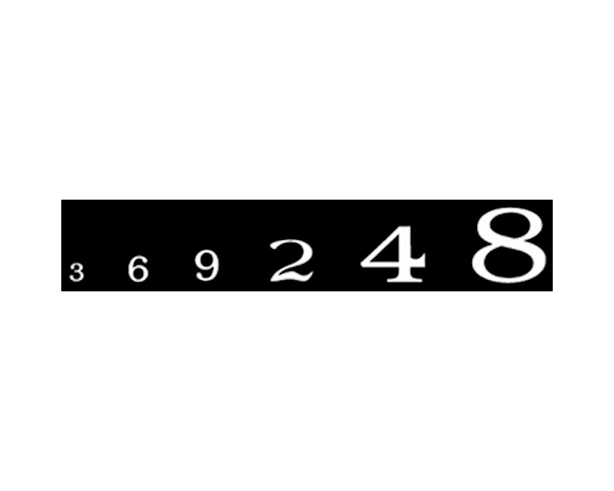 Woodland Scenics Roman Numbers, White