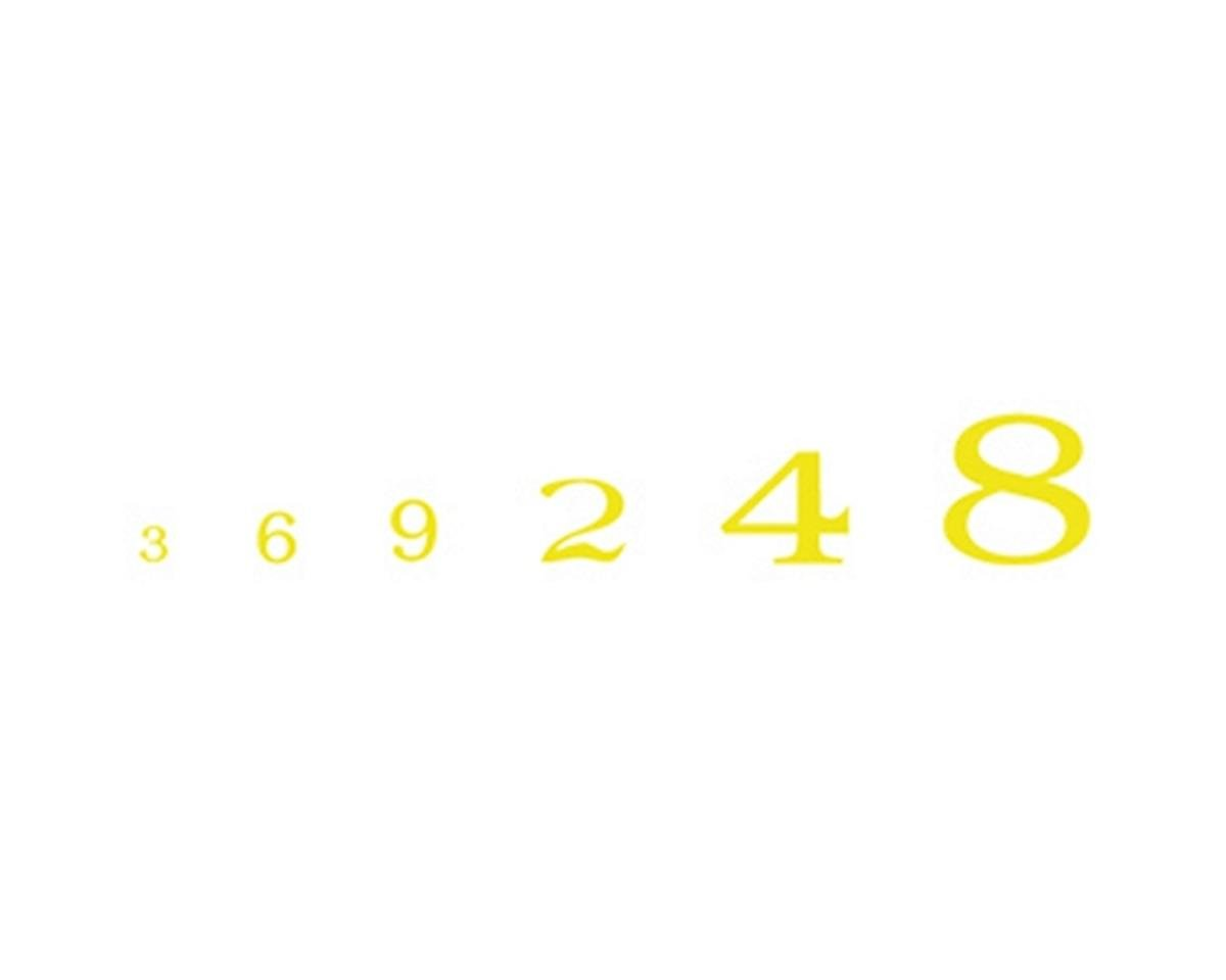 Woodland Scenics Roman Numbers, Yellow