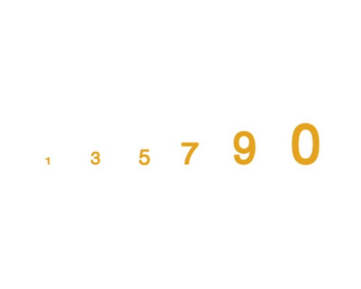 Woodland Scenics Gothic Numbers, Gold