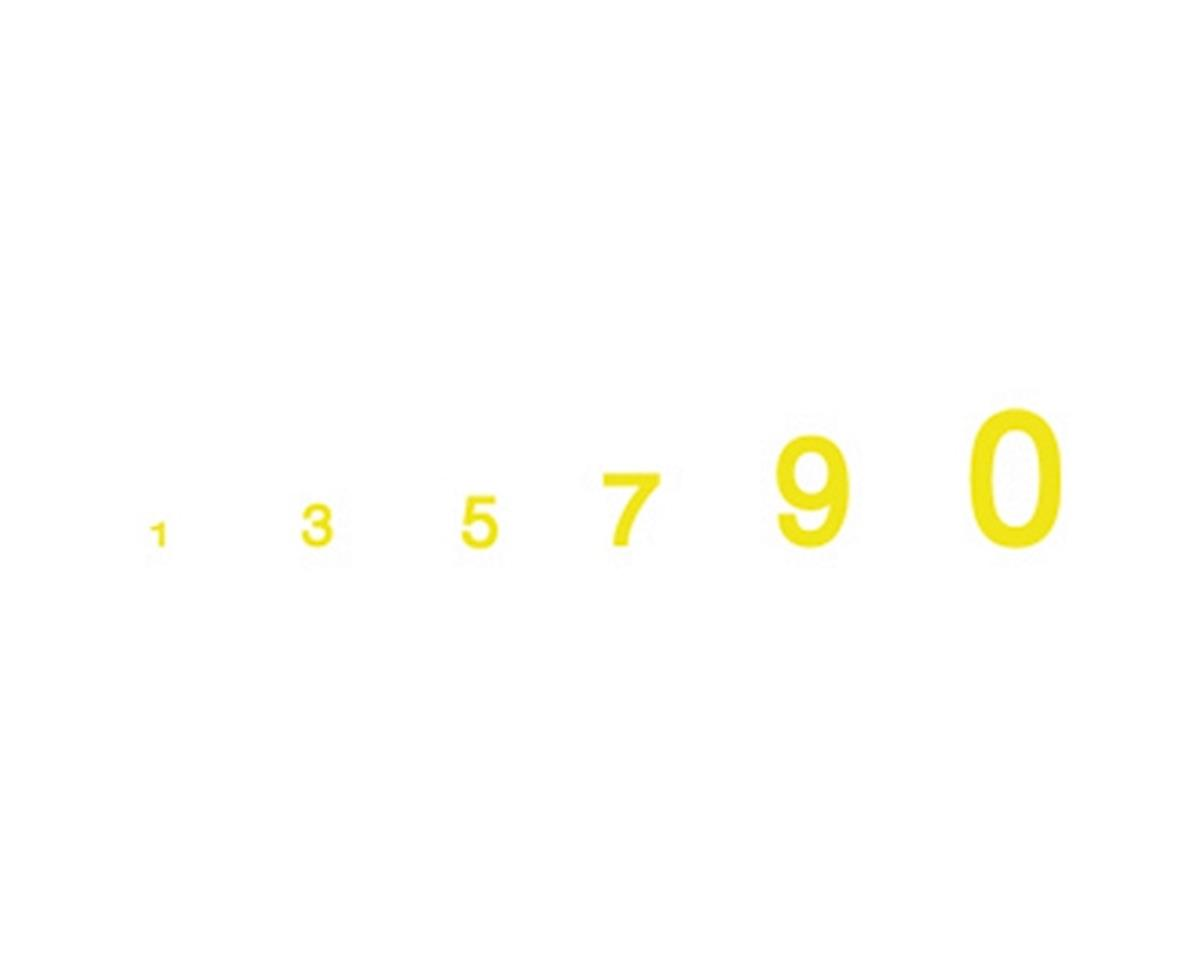 Woodland Scenics Gothic Numbers, Yellow
