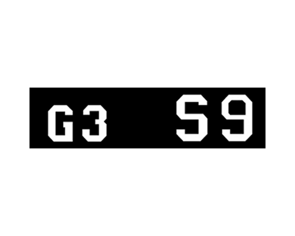 Woodland Scenics Large Gothic 45-Degree USA Letters, White