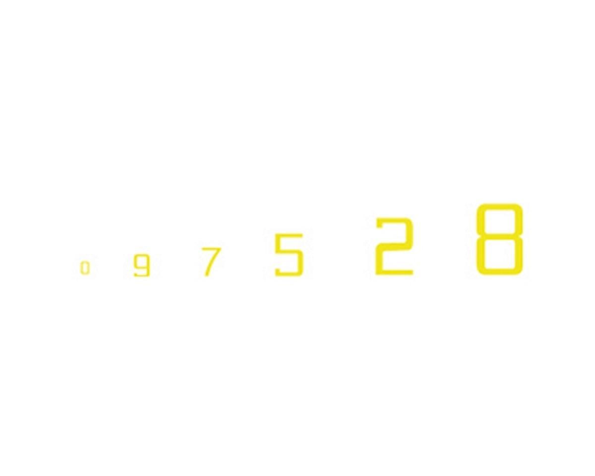 Woodland Scenics Gothic 45-Degree USA Numbers, Yellow