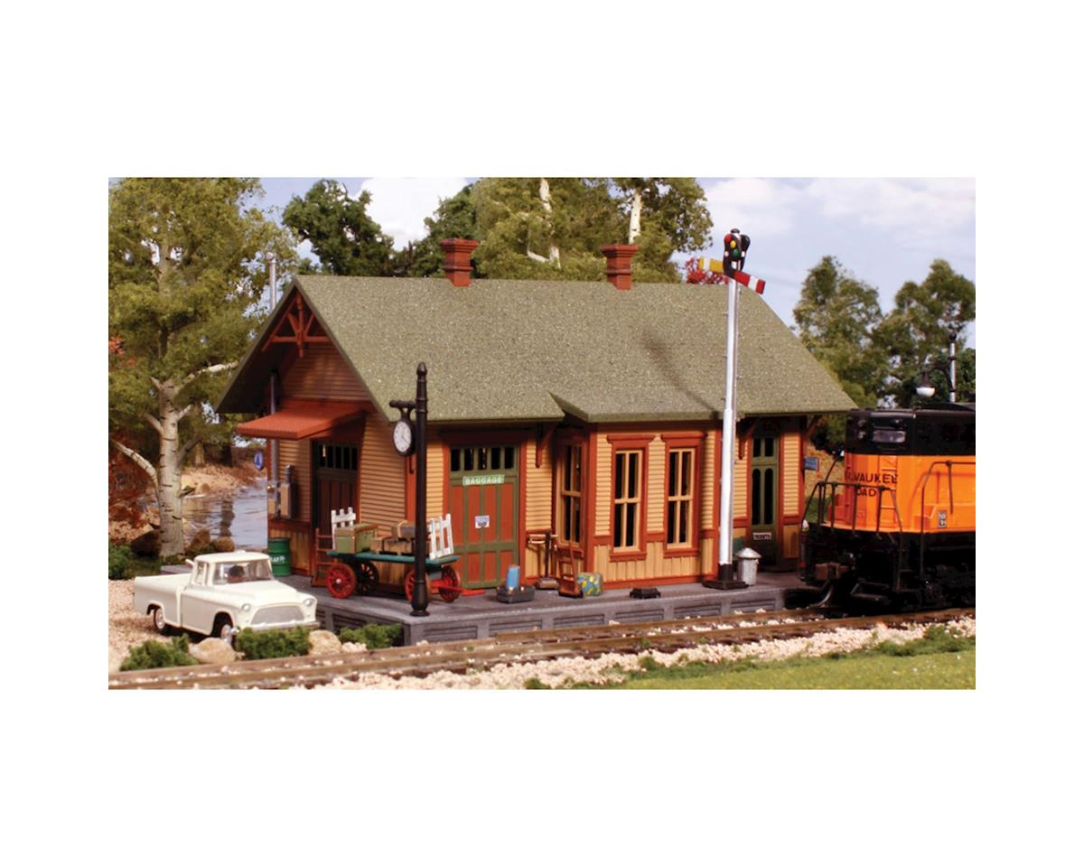 Woodland Scenics Pre-Fab Woodland Station HO