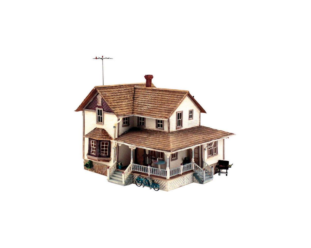 Woodland Scenics HO KIT Corner Porch House