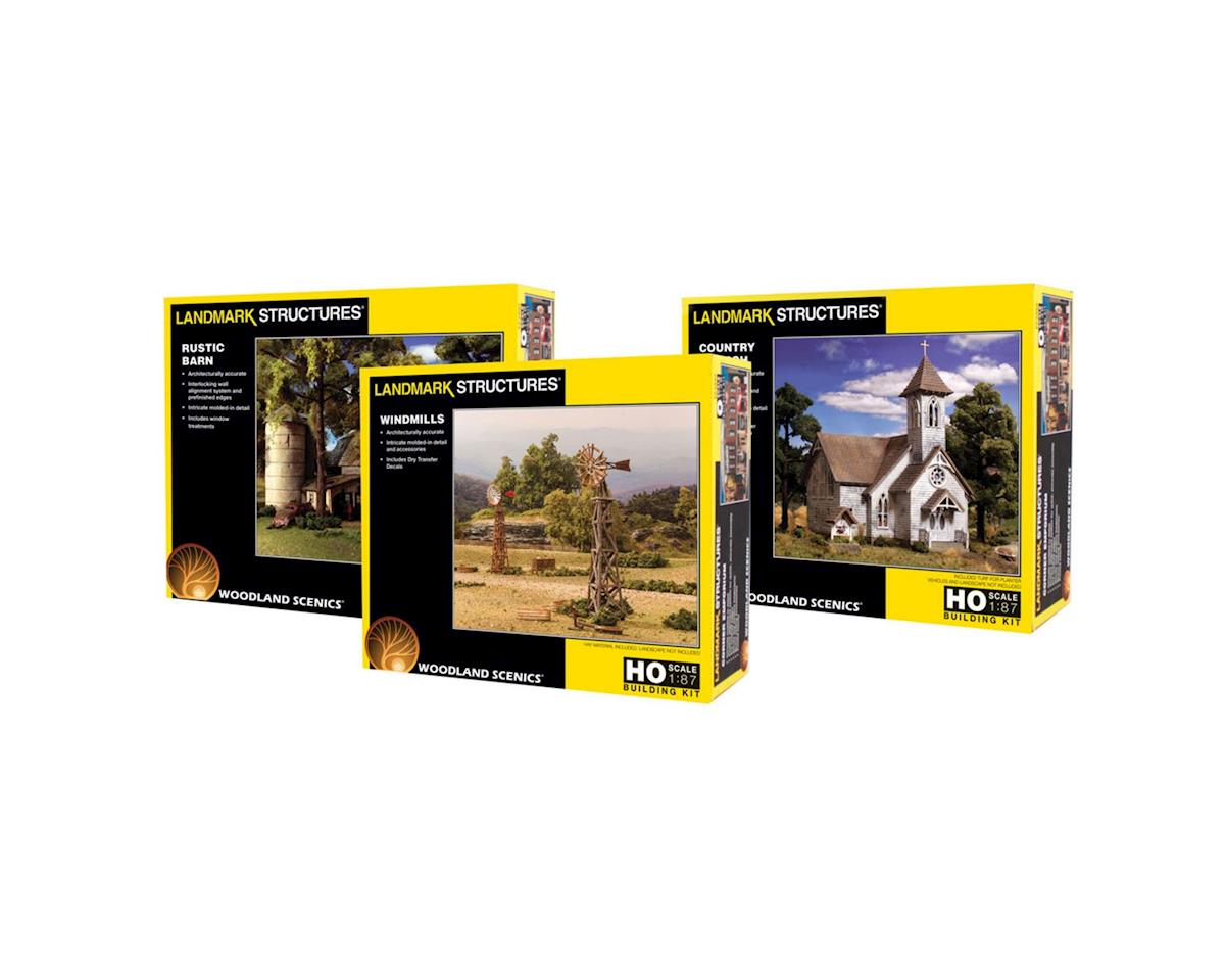 PF5233 HO Building Kits Asst 1ea17 (Dropship) by Woodland Scenics