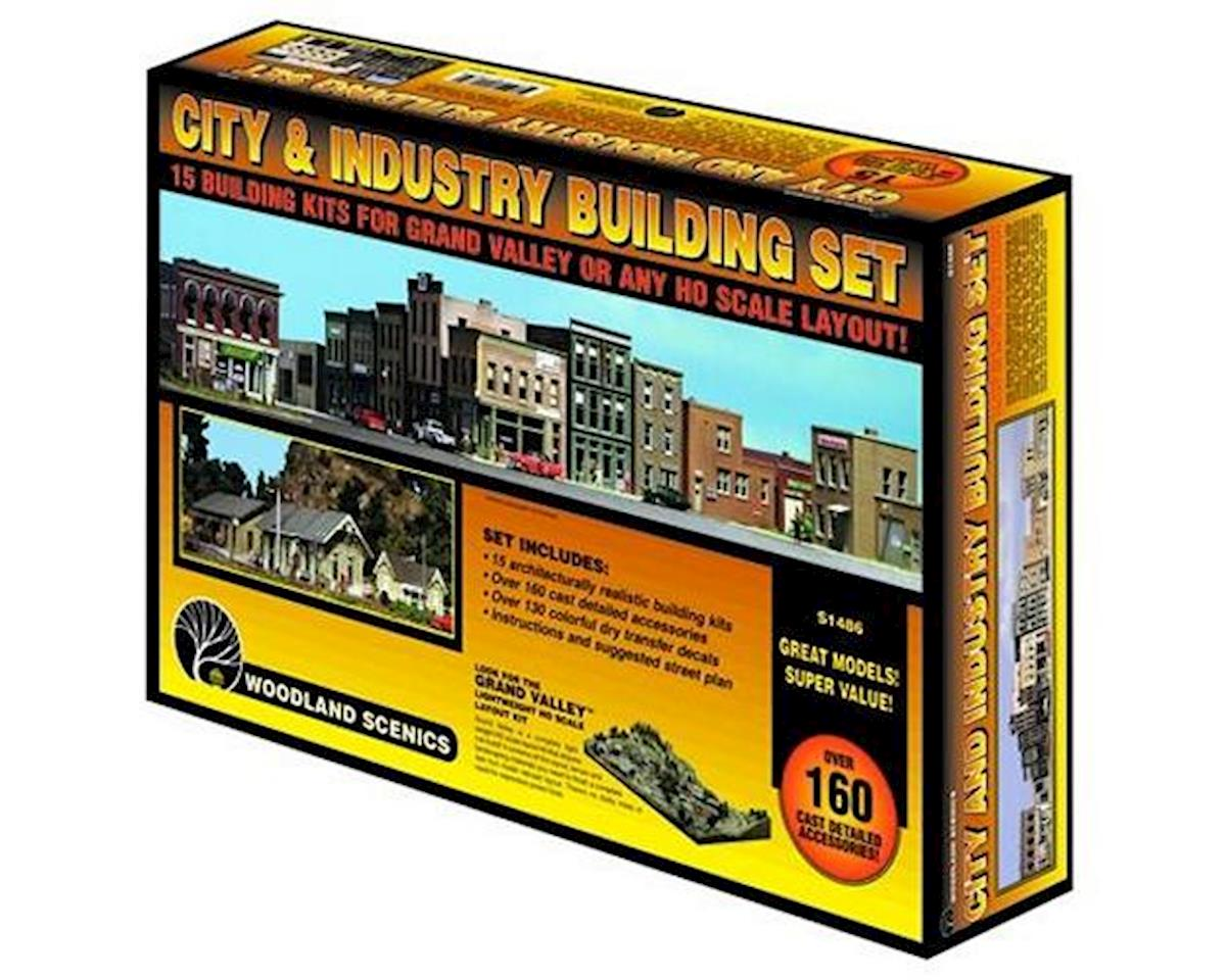 HO KIT City and Industry Building Set by Woodland Scenics